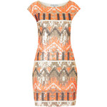Topshop **Sequin Mesh Back Bodycon Dress by Rare