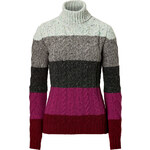 Etro Wool-Cashmere Striped Turtleneck Pullover