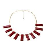 ZOVI Náhrdelník Multi Rectangle červený Z021