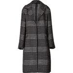 Agnona Intarsia Knit Wool Coat