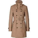 Burberry Brit Short Double Wool Twill Daylesmoore Trench Coat in Camel