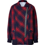 Girl.Band of Outsiders Wool Blend Plaid Jacket