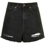 Topshop MOTO Black Ripped Mom Shorts