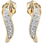 Diamantové náušnice I1 Au585 Ellipse