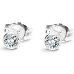 Diamantové náušnice I1 Au585 Beigne