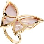 ASOS Limited Edition Butterfly Shell Ring - Pink