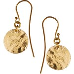 Made Mini Shilai Katoto Round Disc Earrings - Gold