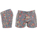 Glitzy Floral Short Girls Blue/Pink 7-8 (SG)
