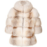 Dsquared2 Arctic Fox Fur Coat with Crystal Trim