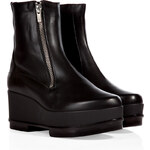 Robert Clergerie Leather Yensio Platform Ankle Boots