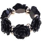 LightInTheBox Lureme Resin Rose Pattern Elastic Bracelet (Assorted Colors)