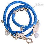 LightInTheBox Circular PU Woven Alloy Bracelet