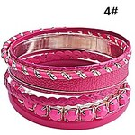 LightInTheBox 7 PCS Leather And Alloy Bracelets Set(Assorted Colors)