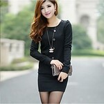 LightInTheBox TaiChang™ Women's Slim Long-sleeve Dress