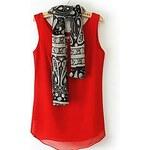 LightInTheBox Women's Korean Sleeveless Round Neck Solid Color (Send Sunscreen Scarves) Vest