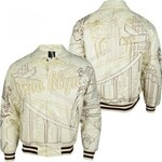 Raw Blue Brooklyn All City Pu Men Pu Leather Jacket Beige