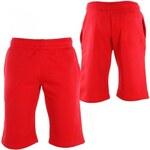 Raw Blue Basic Fleece Signature Men Shorts red