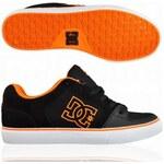 DC Surge Skater Shoes black Neon Orange