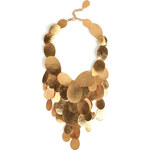 Hervé van der Straeten Hammered Gold-Plated Tears Layered Necklace