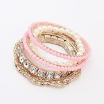 LightInTheBox Women's Europe And The United States Beaded Multilayer Pearl Bracelet