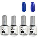 LightInTheBox 4PCS CH Silver Bottle Soak-off UV Gel Set Top CoatBase Gel2 UV Color Builder Gel(No.49-50,15ml)