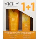 Vichy Ideální duo set: opalovací mléko SPF 30 300 ml a ochranný krém na obličej SPF 30 50 ml