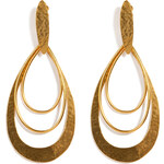 Hervé van der Straeten Hammered Gold-Plated Epure Earrings