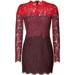 Valentino Heavy Lace Dress in Red/Scarlet/Ruby