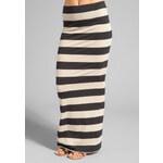 Free People Stripe Column Skirt in Black