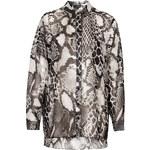 Topshop Oversized Snake Print Shirt