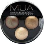 Makeup Academy Trio oční stíny 4 g Blue Babe