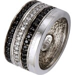 Celesta Ring schwarz/silber