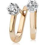 Diamantové náušnice I2 Au585 Courbe élégante