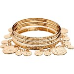 Love Rocks Bangles with Coins - Gold
