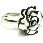 ZOYO Prsten bíločerná růže