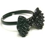 ZOYO Prsten černá mašlička