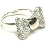 ZOYO Prsten mašlička - stříbrná