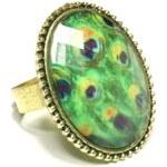 ZOYO Prsten oválný - zelený