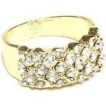 ZOYO Prsten s kamínky - zlatý