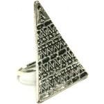 ZOYO Prsten trojúhelník - stříbrný odstín