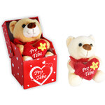 Rappa Plyšový medvěd 10cm v krabičce hnědá
