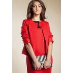 Červené sako, dámské sako NIFE 36 červená