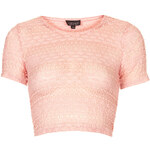 Topshop Bobble Lace Crop
