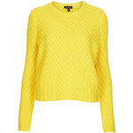 Topshop Knitted Chevron Jumper