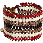 Nali Red Braided Beads Bracelet - Red