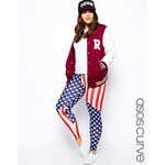 ASOS CURVE Exclusive Legging In Stars And Stripes Print