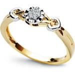 Diamantový prsten H SI2 Au585 De chance