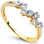 Diamantový prsten H I1 Au585 Chaîne