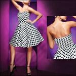 Ever Pretty Krátké puntíkované šaty