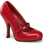 Pin Up Couture Cutiepie-02 červené lodičky Pleaser 35 (US 5)